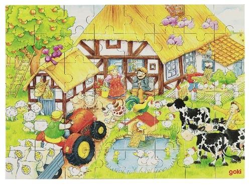"""Einlegepuzzle """"Oma's und Opa's Bauernhof"""""""