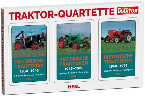Traktor-Quartette 3er-Set Historische Traktoren