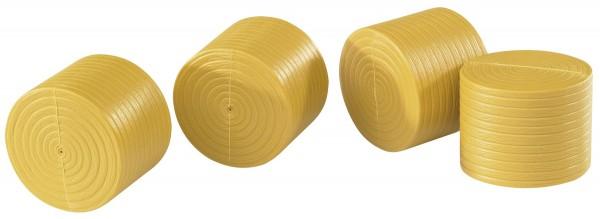 4 Rundballen ockerbraun für Claas Rollant 250 Modell von Bruder 1:16