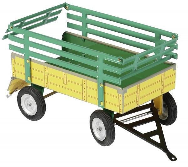 Anhänger mit Ladegatter (gelb-grün) Modell von Kovap 1:25