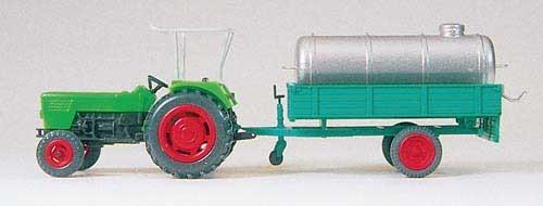 Deutz Ackerschlepper D 6206 mit Güllefass auf Einachsanhänger (Fertigmodell) Modell von Preiser 1:87