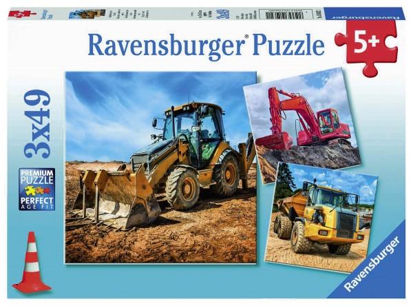Puzzle Baufahrzeuge im Einsatz