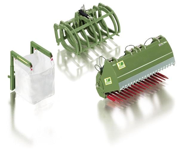 Frontladewerkzeuge Set B - Bressel & Lade grün Modell von WIKING 1:32