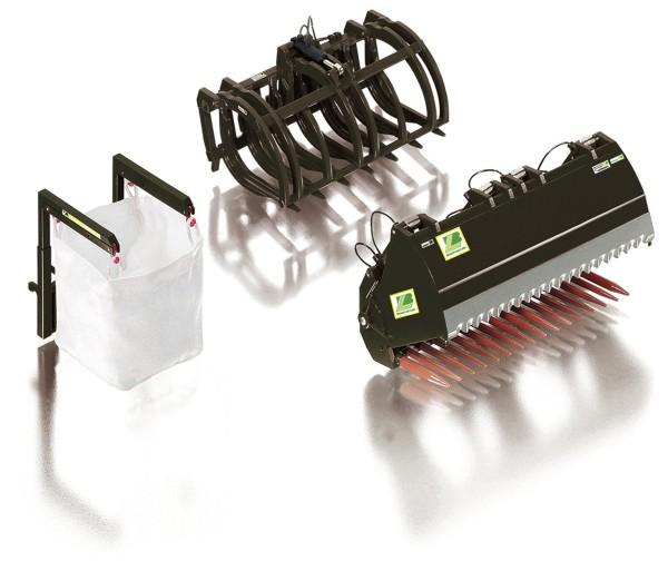 Frontlader-Werkzeuge Bressel & Lade - Set B - (schwarz) Modell von WIKING 1:32