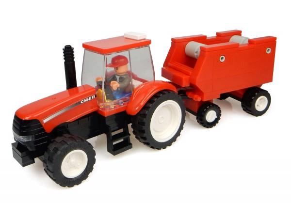 UH Kids Case IH Traktor mit Ballenpresse Bausatz