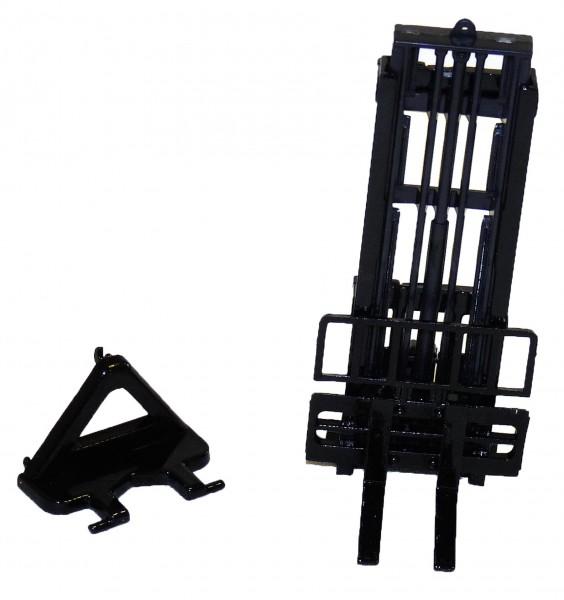 Hubmast und Gabelträger dunkelgrau Modell von Bevro-Toys 1:32