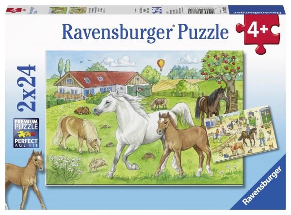 Puzzle Auf dem Pferdehof