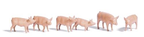 Schweine-Set Modell von Busch 1:87