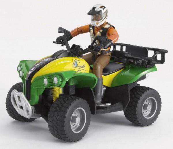 Quad mit Fahrer (Kleidungsfarben gemischt sortiert) Modell von Bruder bworld