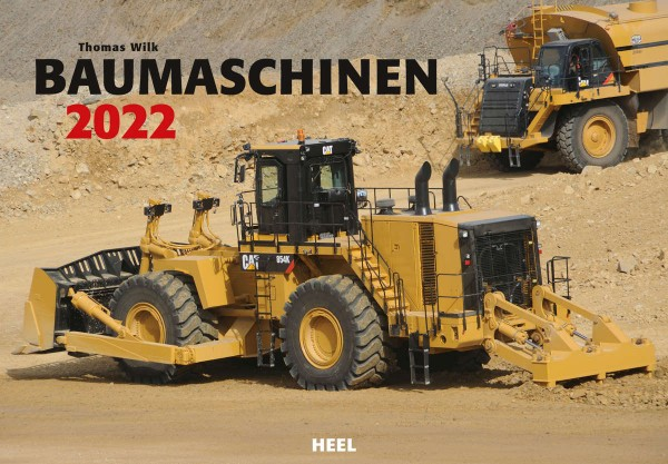 Baumaschinen Monatskalender 2022