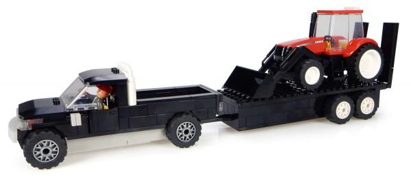 Kids Pick up mit Anhänger und Case IH Traktor mit Frontlader Bausatz