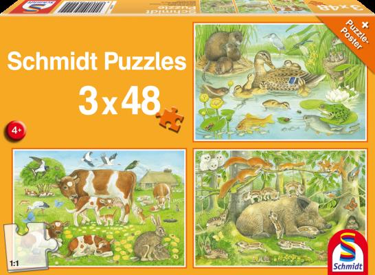 Puzzle Tierfamilien