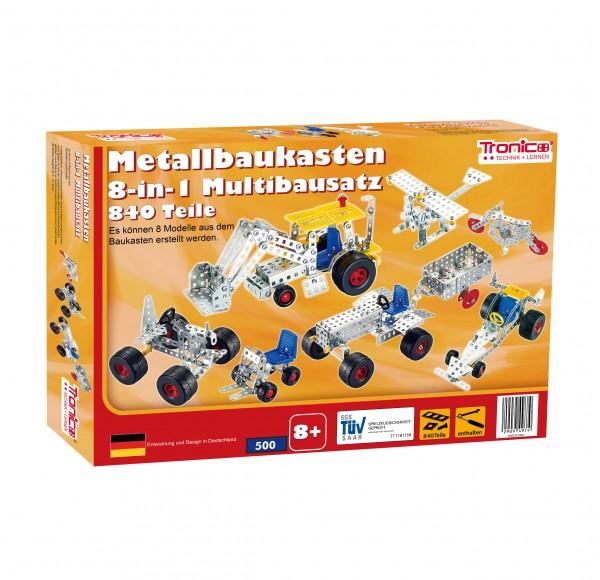 Metallbaukasten 8-in-1