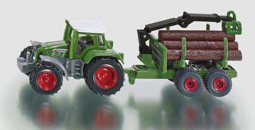 Fendt Traktor mit Forstanhänger Modell von Siku