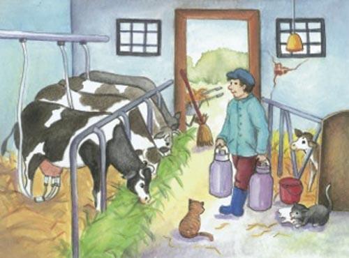 Würfelpuzzle Leben auf dem Bauernhof
