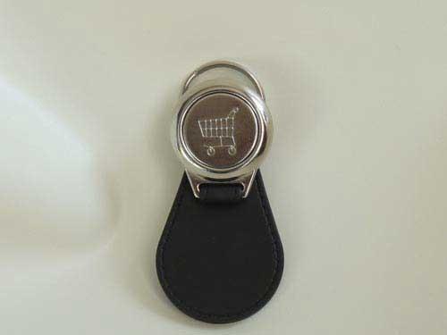 Schlüsselanhänger Lanz Bulldog mit Verdeck mit Einkaufswagen-Chip Modell