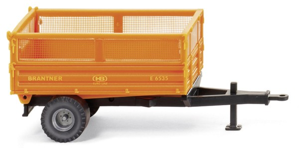 Brantner Einachskipper orange Modell von WIKING 1:87