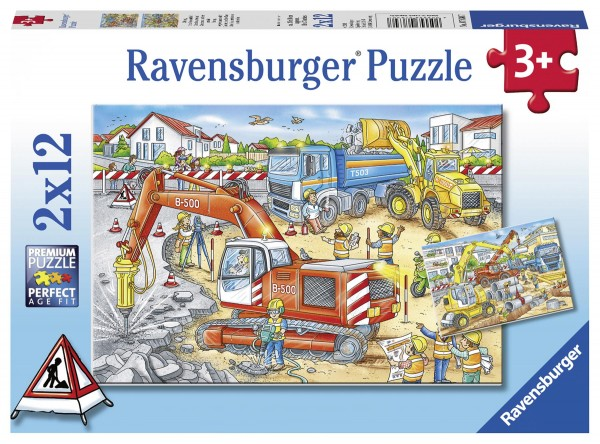 Puzzle Achtung, Staßenbaustelle!