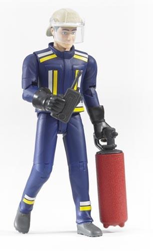 Feuerwehrmann mit Zubehör Modell von Bruder 1:16