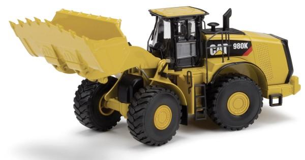 CAT 980K Radlader mit Felsschaufel Modell von DieCast Masters 1:50