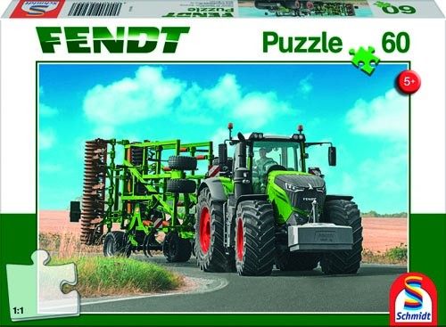 Puzzle Fendt 1050 Vario mit Amazone Grubber Genius 60 Teile