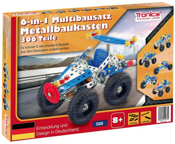 Metallbaukasten 6-in-1