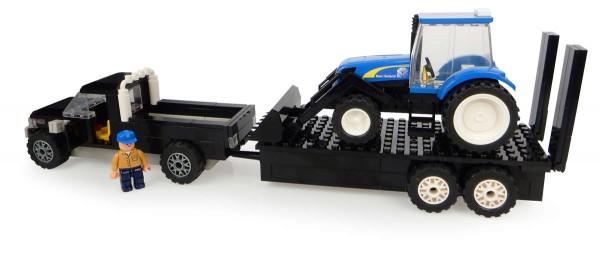 UH Kids Pick up mit Anhänger und New Holland Traktor mit Frontlader Bausatz