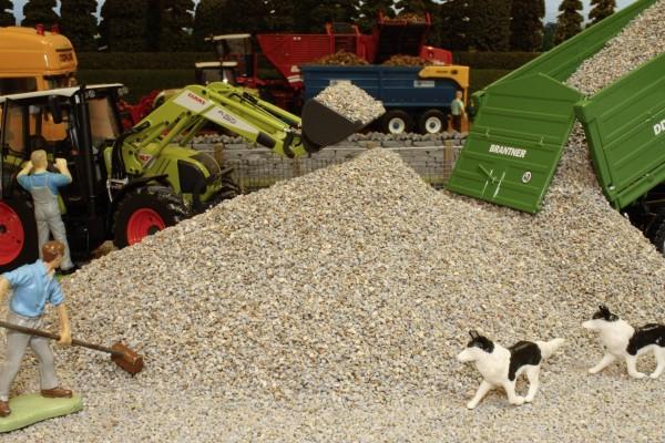Lose Schotterschüttung hellgrau Modell von Brushwood Toys 1:32