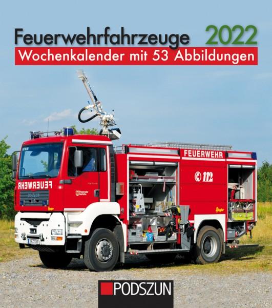 Feuerwehrfahrzeuge Wochenkalender 2022