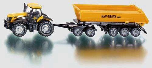 JCB 8250 Traktor mit Dolly und Kippmulde Modell von Siku 1:87