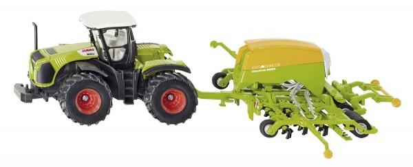 Claas Traktor mit Amazone Sämaschine Modell von Siku 1:87