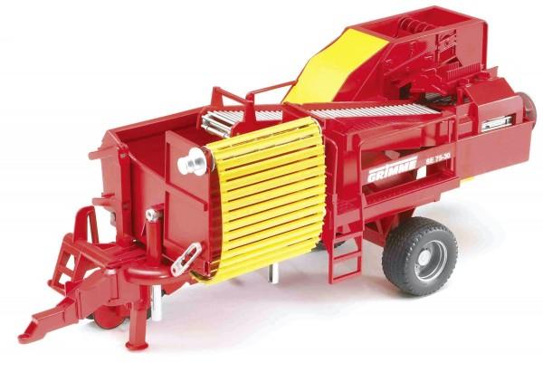 Grimme Kartoffelvollernter SE 75-30 mit 80 Kartoffelimitaten Modell von Bruder Profi