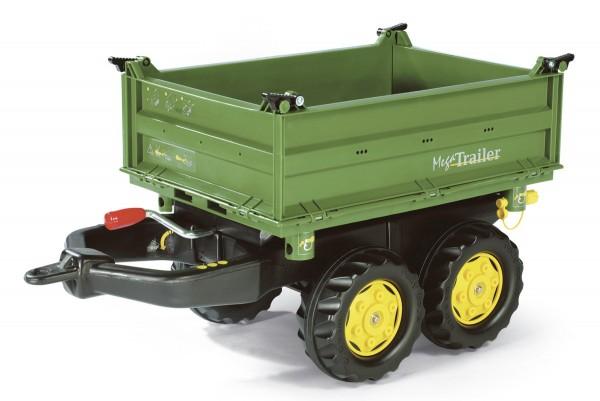 Mega Trailer Dreiseitenkipper John Deere grün von rolly toys