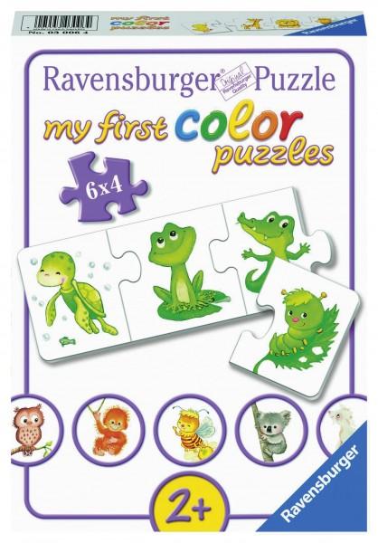 Puzzle Mein erstes Farbpuzzle Tiere