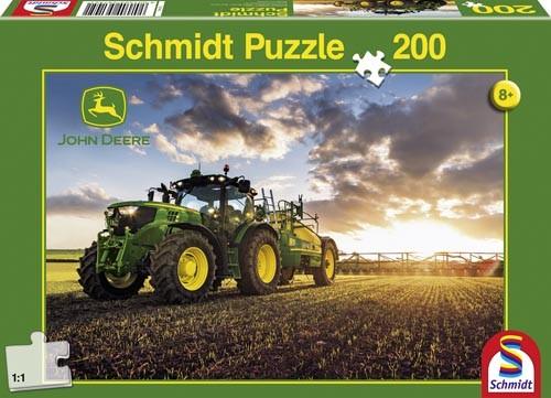 Puzzle John Deere Traktor 6150R mit Güllefass