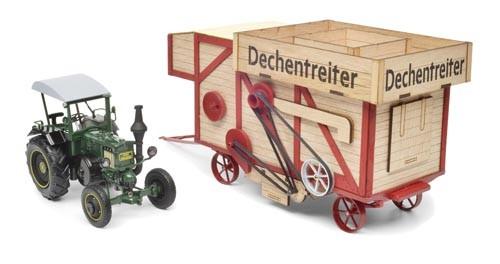Lanz Bulldog mit Dreschmaschine Dechentreiter Modell von Schuco 1:32