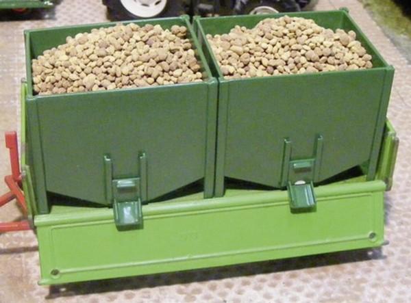 Kartoffeln einzeln natur/ braun 150 g Modell von Juweela 1:32