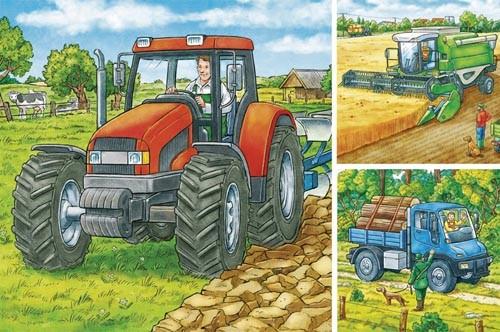 Puzzle Große Landmaschinen