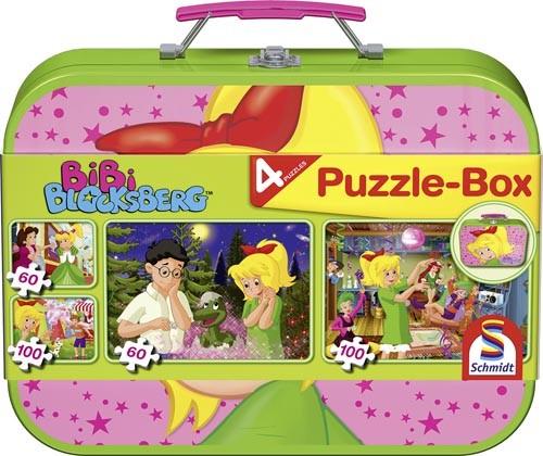 Puzzle-Box Bibi Blocksberg im Metallkoffer