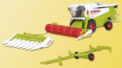 Claas Mähdrescher mit Schneidwerk und Maisgebiss (Bausatz) Modell von kibri 1:87
