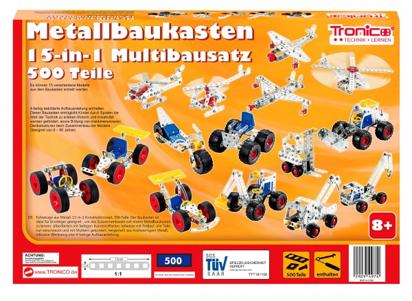 Metallbaukasten 15-in-1
