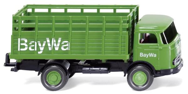 """Gitteraufbau-Lkw (MB LP321) """"BayWa"""" Modell von WIKING 1:87"""