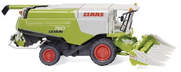 Claas Lexion 760 MD mit Conspeed Maisvorsatz Modell von WIKING 1:87