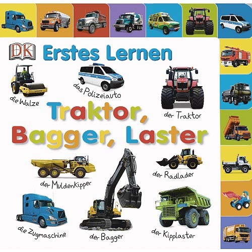 Erstes Lernen - Traktoren, Bagger, Laster