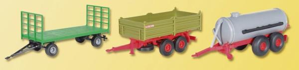 Landwirtschaftliches Anhänger-Set (Bausatz) Modell von kibri 1:87