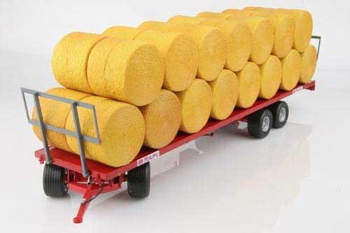 Maupu 1180/200 Plattformanhänger mit 30 Ballen Modell von Replicagri 1:32