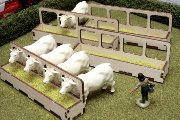 Futterraufen (4 Stück) Modell von Brushwood Toys 1:32