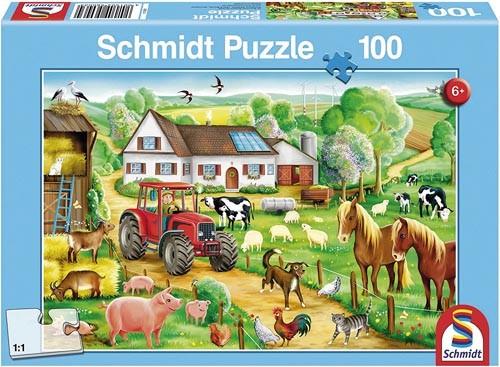 Puzzle Fröhlicher Bauernhof 100 Teile