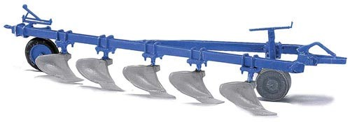 """Fortschritt B200 Aufsattel-Beetpflug """"blau"""" Modell von Busch 1:87"""