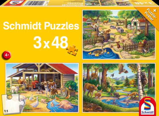 Puzzle Alle meine Lieblingstiere